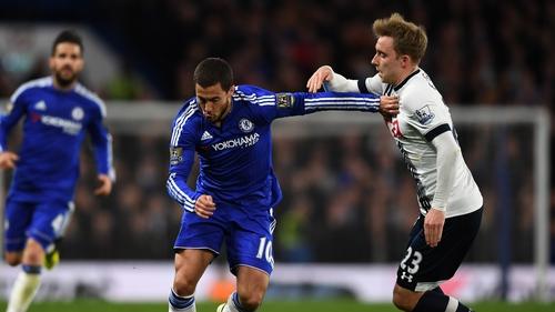 Eden Hazard fired home the leveller for Chelsea