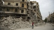 A file picture showing destruction in Syria