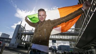 Nicky Byrne jets off for Eurovision