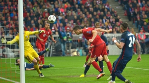Robert Lewandowski's late goal wasn't enough for Bayern