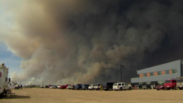 Authorities urged residents to head towards evacuation centres