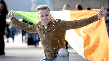 Nicky Byrne shines during rehearsal