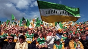 Offaly fans at the 1998 All-Ireland Hurling Final