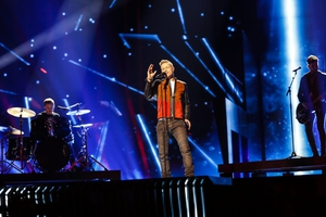 Nicky Byrne on stage in Stockholm for the first time