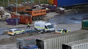 Part of the recycling facility in Wicklow remains sealed off
