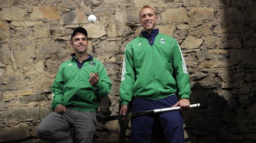 Ireland men's hockey team head coach Craig Fulton and goalkeeper David Harte