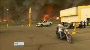 Nine News Web: Mandatory evacuation order in place for entire population of Canadian city due to wildfire