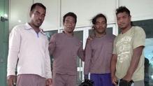 Moamoa Kamwea, Tatika Ukenio, Bonibai Akau and Boiti Tetinauiko spent 26 days adrift