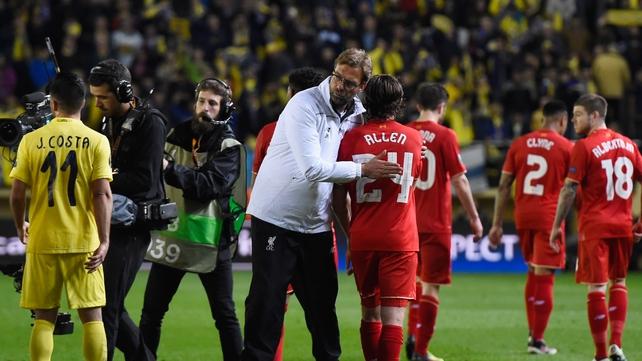 Klopp warns Villarreal: 'It's only half-time'