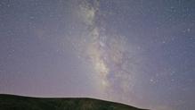 The Eta Aquarid meteor shower seen from Barranco de Ajuy on Fuerteventura in May 2013