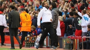 Jurgen Klopp celebrates Liverpool's first goal against Villarreal at Anfield