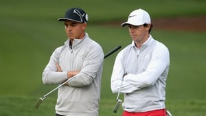 Rory McIlroy and Ricky Fowler saw an unwanted souvenir head in their direction