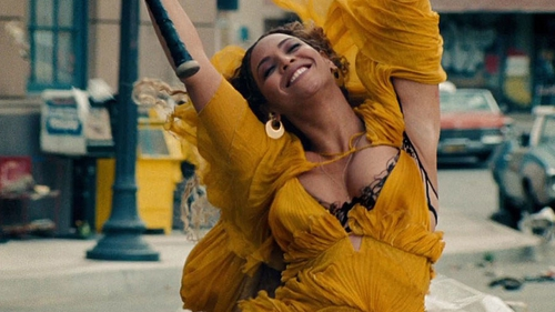 Beyoncé rockin' yellow for one of the vids from her new album, Lemonade