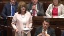 Ceannaire an Lucht Oibre Joan Burton sa Dáil