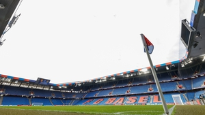 A view of St Jakob-Park - the venue for the Europa League final on 18 May