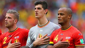 Vincent Kompany (R) is facing a fitness race for this summer's Euros