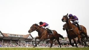 Ryan Moore riding Dartmouth (L)  held off the challenge of Wicklow Brave