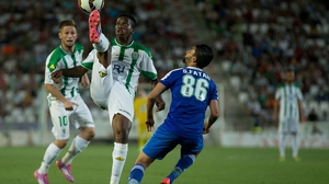 Patrick Ekeng in action for his old club Cordoba in Spain in 2014
