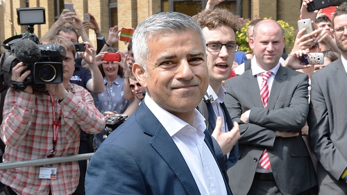 The new mayor of London Sadiq Khan was signed in to the office in a multi-faith ceremony at Southwark Cathedral in London today