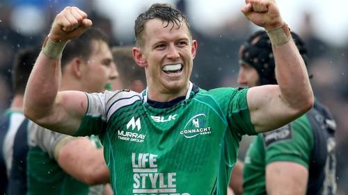 Matt Healy celebrates Connacht's victory