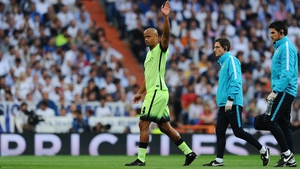 Vincent Kompany comes off against Real Madrid