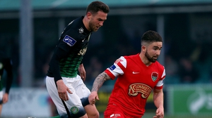 Sean Maguire (R) struck the opener for Cork City