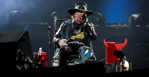Axl Rose triumphs at AC/DC debut