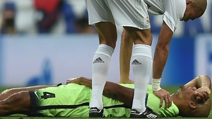 Vincent Kompany tore a thigh muscle