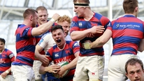 Clontarf win the Ulster Bank League final