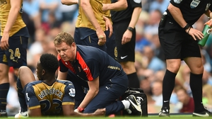 Danny Welbeck is facing a nervy wait on a knee scan