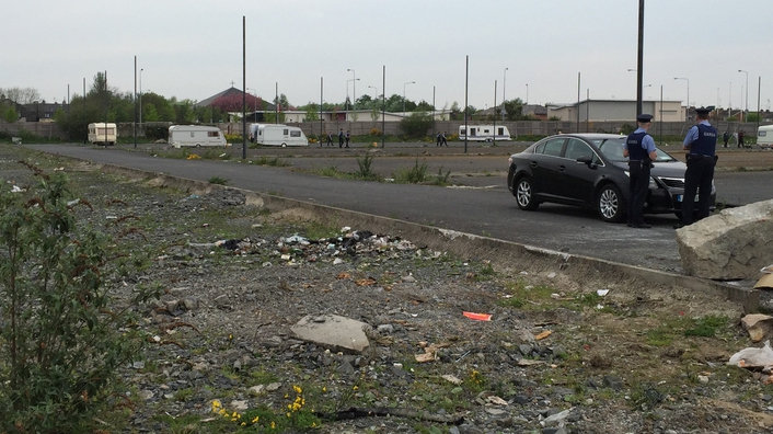 A number of families facing eviction from a halting site in Dundalk