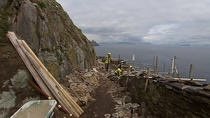 There was a further rockfall affecting the pathway yesterday evening