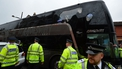 VIDEO: West Ham fans attack Manchester United bus