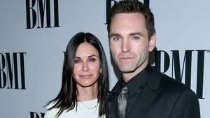 Courteney Cox and Johnny McDaid on the red carpet at last night's BMI Pop Awards
