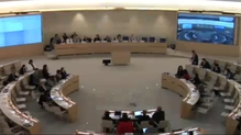 The United Nations hearing is taking place in Geneva