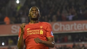 Christian Benteke was on the mark in what could be his last Anfield appearance for Liverpool