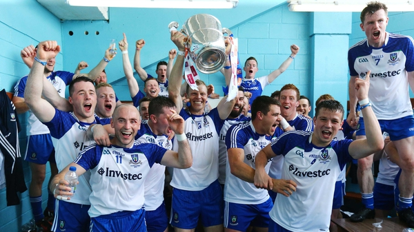 Monaghan celebrate winning the 2015 Ulster title