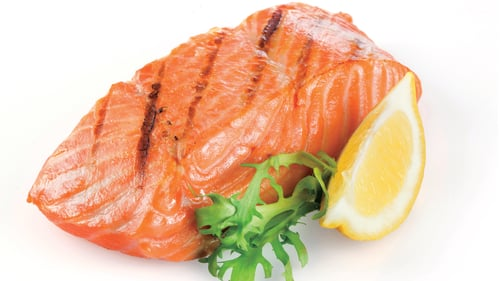 A tasty and healthy salmon fillet.