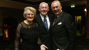 Christy O'Connor senior with his wife Mary and nephew Christy O'Connor junior at his 80th birthday celebration in 2004