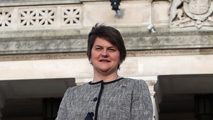 Arlene Foster said: 'I won't be stepping aside. And if there is an election, there is an election'