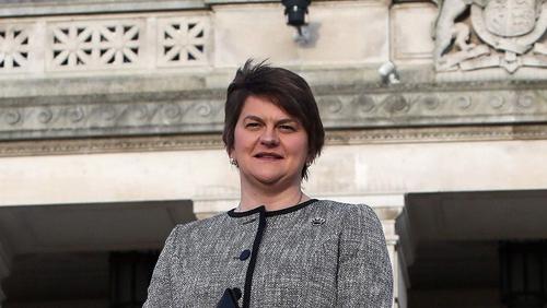 Arlene Foster said: 'I won't be stepping aside. And if there is an election, there is an election'