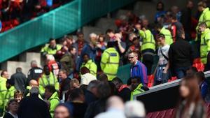 Old Trafford was evacuated after a suspect package that later turned out to be a training device was found