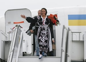 Jamala returned home yesterday to a hero's welcome