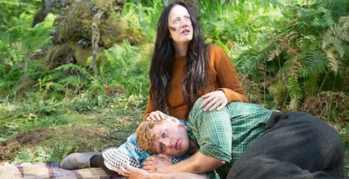 Careful with that face paint: Andrea Riseborough and Ross Anderson in The Silent Storm