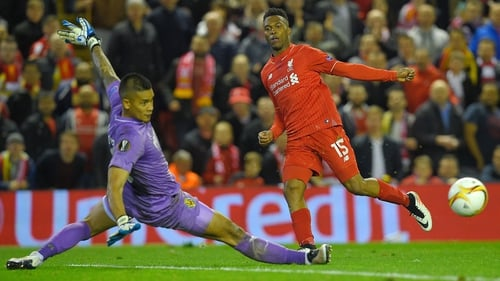 Daniel Sturridge (R) was on target in Liverpool's semi-final win over Villarreal