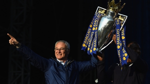 Claudio Ranieri led Leicester City to the Premier League title just nine months ago