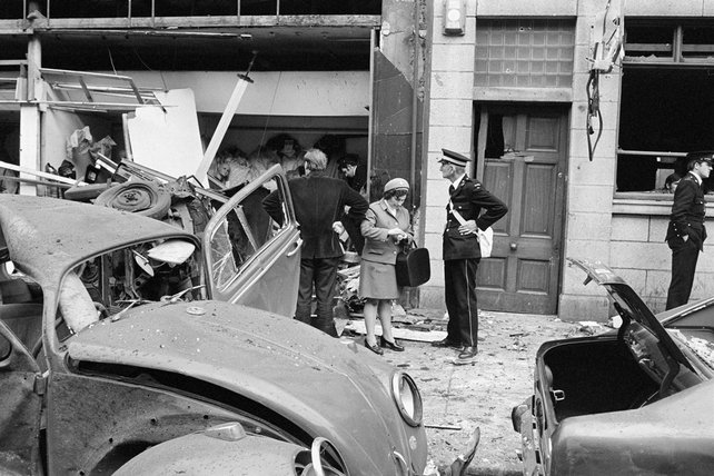 Aftermath of bomb in Talbot Street (1974)