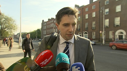 Simon Harris is awaiting the report from the Trauma Steering Group