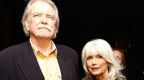 Guy Clark and friend Emmylou Harris pictured together in 2013