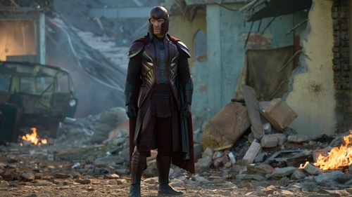 Michael Fassbender as Magneto in X-Men: Apocalypse: back to do battle in the ruins of another world capital